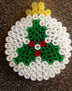 Christmas bauble ornament hama perler beads By Alice - Vickan