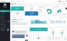 35 templates de dashboard d'administration créés avec Bootstrap