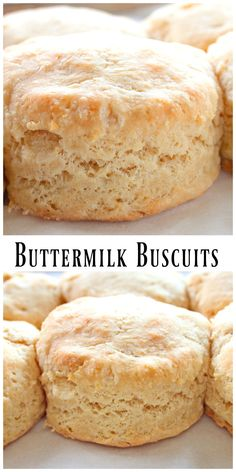 Buttermilk Biscuits are so tender, delicious, and easy to make they'll quickly become a favorite in your house. I love these with maple syrup and bacon for breakfast! Tea Biscuits, Homemade Biscuits, Buttermilk Biscuits, Buttery Biscuits, Breakfast Biscuits, Biscuit Bread, Biscuit Recipe, Bread Rolls, Bread Baking
