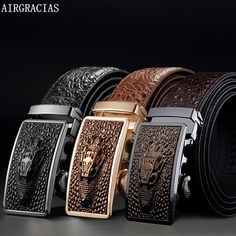 083c0c37cf9d Cheap ceinture homme, Buy Quality ceintures hommes designer directly from  China ceinture designer Suppliers  AIRGRACIAS Men Genuine Leather Men  Crocodile ...