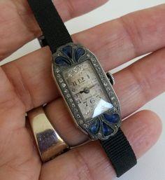 Vtg Art Deco Lady Chateau Cadillac Swiss Wrist Watch 15J ABRA TLC 1920s #Cadillac #ArtDecp