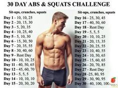 30 day abs and squats challenge  //  Health  //  Exercise  //  Workout  //  abdominal  //  Infographic  //  Easy to use  // Tips  //  Guide  //  How to //  Success in getting a six pack  //  #SeanPStone @FormulaSean