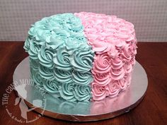 Gender Reveal Cake by The Cake Mom & Co., via Flickr