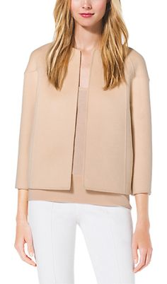 MICHAEL KORS COLLECTION Cashgora raglan jacket found on Nudevotion