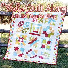 Fat Quarter Shop's Jolly Jabber: Wishes Quilt Along links for all of the blocks here