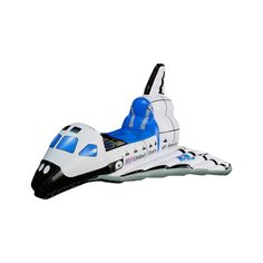Halloween Kids' Jr. Space Explorer Inflatable Space Shuttle Costume, White/Blue