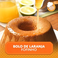 Cuddly orange cake- Bolo de laranja fofinho Cuddly orange cake is perfect any time of day! This recipe has an orange syrup that makes the cake very wet. Check out the recipe and learn how to make this delicious. Easy Cooking, Cooking Recipes, Cake Recipes, Dessert Recipes, Sour Cream Pound Cake, Tasty, Yummy Food, Portuguese Recipes, How Sweet Eats