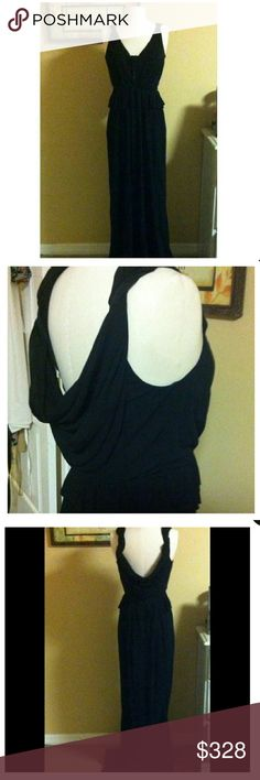 NWT Black tie Holiday party dress See photo four. This dress by ABS ALLEN STEWART MAKES THE PERFECT BLACK TIE EVENT GOWN. PURE ELEGANCE AND LUXURY. SUPER SOFT MATERIAL. FLOWS PERFECTLY AND FIGURE FLATTERING. VERY SEXY DRAPE IN BACK. FITS SIZE 4-6 The best. ABS Allen Schwartz Dresses Wedding
