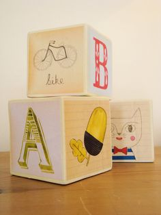 #alphabet #blocks #illustrated Julia Staite