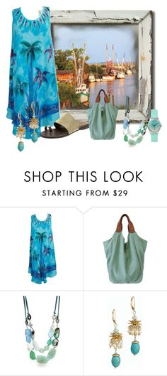 """""""boats"""" by kim-coffey-harlow ❤ liked on Polyvore featuring Vince Camuto, Treska and Talbots"""