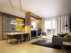amenagement design salon cuisine