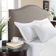 Walmart: Better Homes and Gardens Grayson Linen Headboard with Nailheads, Multiple Colors, Multiple Sizes