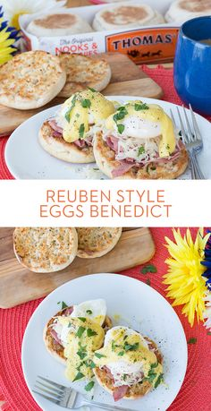 Reuben Style Eggs Benedict: Paired with a Thomas' English Muffin, corned beef, sauerkraut, and a poached egg make this a Breakfast Like No Other. Breakfast For Dinner, Breakfast Dishes, Breakfast Time, Breakfast Recipes, Poached Egg, Le Chef, Corned Beef, Brunch Recipes, Yummy Recipes