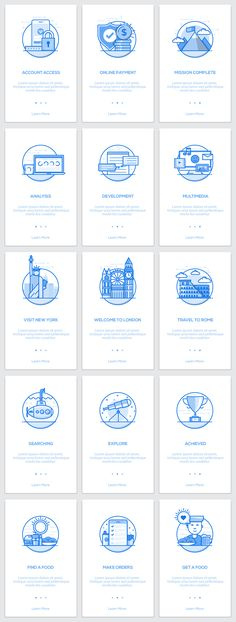 Onboarding Screens for App by Creative Graphics on @creativemarket