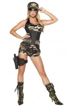5 Pc Army babe costume includes camouflage booty shorts 1ef73b07eec2