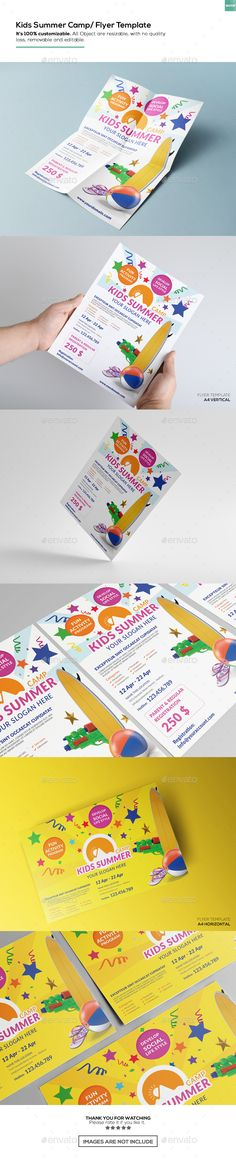 Kids Summer Camp Flyer | Flyer Template, Print Templates And Brochures