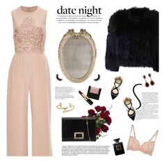 """date night jumpsuit"" by jesuisunlapin ❤ liked on Polyvore featuring Nearly Natural, La Perla, Elie Saab, H Brand, Francesco Russo, Roger Vivier, Bobbi Brown Cosmetics, Bliss Studio, Effy Jewelry and Chanel"
