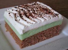 Picture of Recept - Pistáciový koláč Krispie Treats, Rice Krispies, Tiramisu, Cake Recipes, Cooker, Cheesecake, Food And Drink, Sweets, Candy