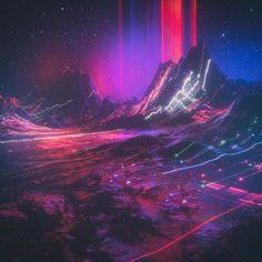 op (everyday Art Print by Beeple - X-Small Vaporwave, Cgi, Cinema 4d, Wisconsin, Arte Cyberpunk, Neon Noir, Neon Aesthetic, Retro Waves, Glitch Art