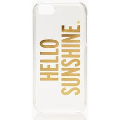 Kate Spade Hello Sunshine Iphone 5c Case ($35) ❤ liked on Polyvore featuring accessories, tech accessories, phone cases, phone, iphone, electronics and kate spade