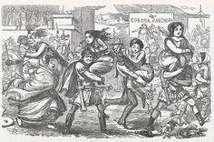 Comic History of Rome p 010 The Romans walking off with the Sabine Women - John Leech (caricaturist) - 1840ish