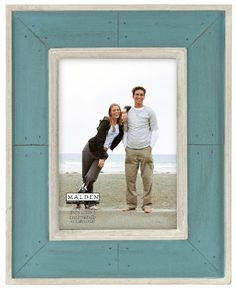 malden sun washed woods turquoise distressed picture frame 5 by 7 inch