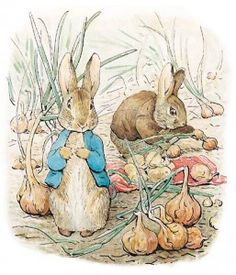 Beatrix Potter is amazing, and this picture tickles me every time I see it. I should hang it in my kitchen.