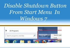 Disable Shutdown button from Start menu in Windows 7, Its very easy way to disable Shutdown button with the help of group policy editor windows.