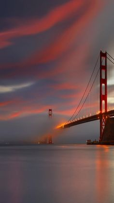 Golden Gate Bridge, Sunset, San Francisco, California - What a sky. I need a San Francisco fix! The Places Youll Go, Places To See, Beautiful World, Beautiful Places, Beautiful Sky, Golden Gate Bridge, Belle Photo, Wonders Of The World, Puerto Rico