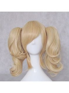 """Anya Alstreim Blonde Short 35cm Cosplay Wigs with Curly Ponytail  Hair Style: Split type wigs  Role: 《Code Geass》Anya Alstreim  Material: High Temperature Heat Resistant Synthetic Fibre ( Freely Shape, Heat Resistant up to 180°)  Length: 35cm (13.78"""") + 40cm (15.75"""") 2pcs curly ponytail ( Length tolerance ±3cm)  Color: Blonde  Occasion: Custumes, Cosplay, Holiday, Party $19.98"""
