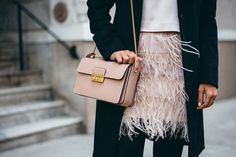 Fly away in feathers via Girl Meets Glam.