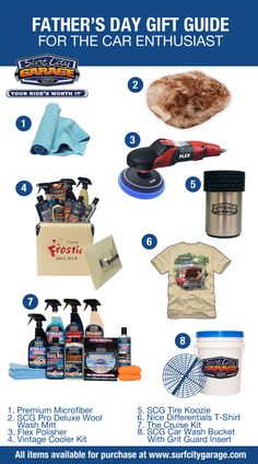 Father's Day Gift Guide for Car Enthusiasts! #fathersday