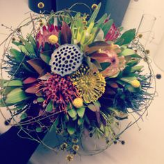 Native Bouquet Wedding Bouquets, Wedding Flowers, Australian Flowers, Flower Centerpieces, Pin Cushions, Nativity, Floral Design, Wreaths, Weddings