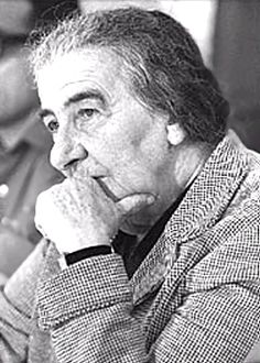 Golda Meir    (1898-1978). Signer of the Declaration of Independence of Israel, 1948. Israeli Ambassador to the U.S.S.R., 1948-1949. Minister of Labor of Israel, 1949-1956. Foreign Minister of Israel, 1956-1969. 4th Prime Minister of Isreal, 1969-1974. Leader of the Labor Party, 1969-1974. Born Golda Mabovitz. Known as Golda Meyerson (after her husband, Morris Meyerson), until 1956, when she adopted a Hebrew name.
