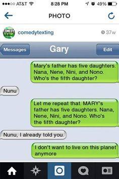It's Mary idiot
