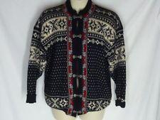 Voss Tyrolean cardigan Sweater 52 L XL Pewter Clasps Norway Wool Men Women