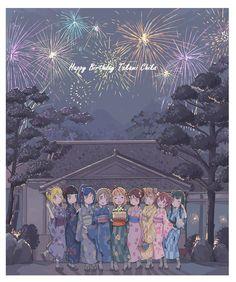 Happy Birthday Chika! Love Live! Sunshine!! Hanamaru Kunikida, Dia Kurosawa, Kanan Matsuura, Mari Ohara, Riko Sakurauchi, Yoshiko Tsushima, You Watanabe, Chika Takami, Ruby Kurosawa, Aqours
