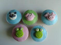 Baby animals cupcakes