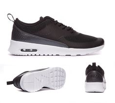 Nike Womens Air Max Thea Text Trainers Black White S92411
