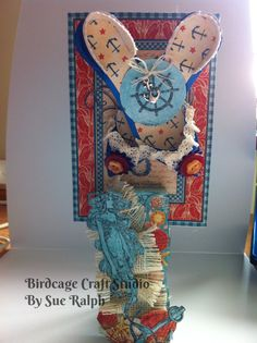 Paper Shoes on a Altered peg using Graphic 45 papers!  By Sue Ralph, Birdcage Craft Studio