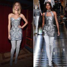 Pin for Later: Diese Stars konnten es nicht erwarten und tragen schon jetzt die Herbst/Winterkollektionen Rosie Huntington-Whiteley in Balmain Herbst/Winter 2016
