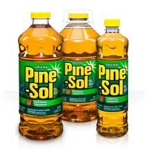 Outdoor use! Another pinner says: I love using Pine-Sol. One thing I especially like is that flies HATE it!  I mix it with water, about 50/50 and put it in a spray bottle.  Use to wipe counters or spray on the porch and patio table and furniture  Drives them away!
