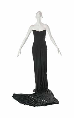 A Lanvin Castillo Evening Dress, 1950-1960  (how do you walk in this?)