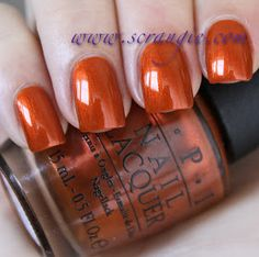 Sep 2012 - OPI has chosen Germany as the country for this year's regional-themed fall collection. Fancy Nails, Cute Nails, Pretty Nails, Fall Nail Designs, Cute Nail Designs, Art Designs, Nail Polish Art, Nail Polish Colors, Fabulous Nails