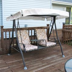 Menards 2 seat Chair Style Sienna Swing canopy and cushion replacement : swing canopy - memphite.com