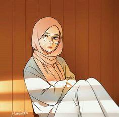 Pin Image by Girlnesia Art Anime Fille, Anime Art Girl, Girl Cartoon, Cartoon Art, Cartoon Design, Cartoon Drawings, Cute Drawings, Hijab Anime, Mini Mundo