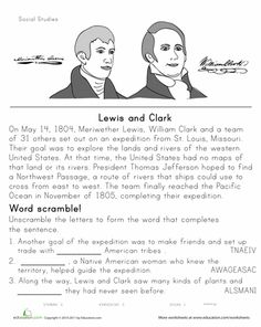 lewis and clark coloring page worksheets clarks and social studies. Black Bedroom Furniture Sets. Home Design Ideas