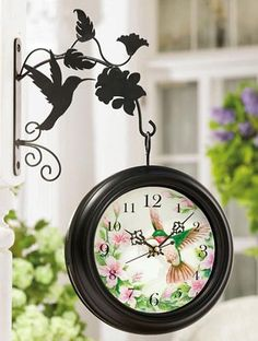 Lovely Outdoor Pool Clock and thermometer