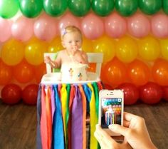 Real Party Inspiration: Parker Penny's Rainbow First Birthday by polly