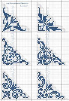 Cross Stitch Pillow, Cross Stitch Tree, Cross Stitch Borders, Crochet Borders, Filet Crochet, Cross Stitch Designs, Cross Stitching, Cross Stitch Patterns, Crochet Patterns